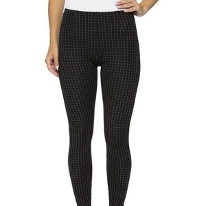 Lysse Audrey Check Ankle Legging Pants Black Small